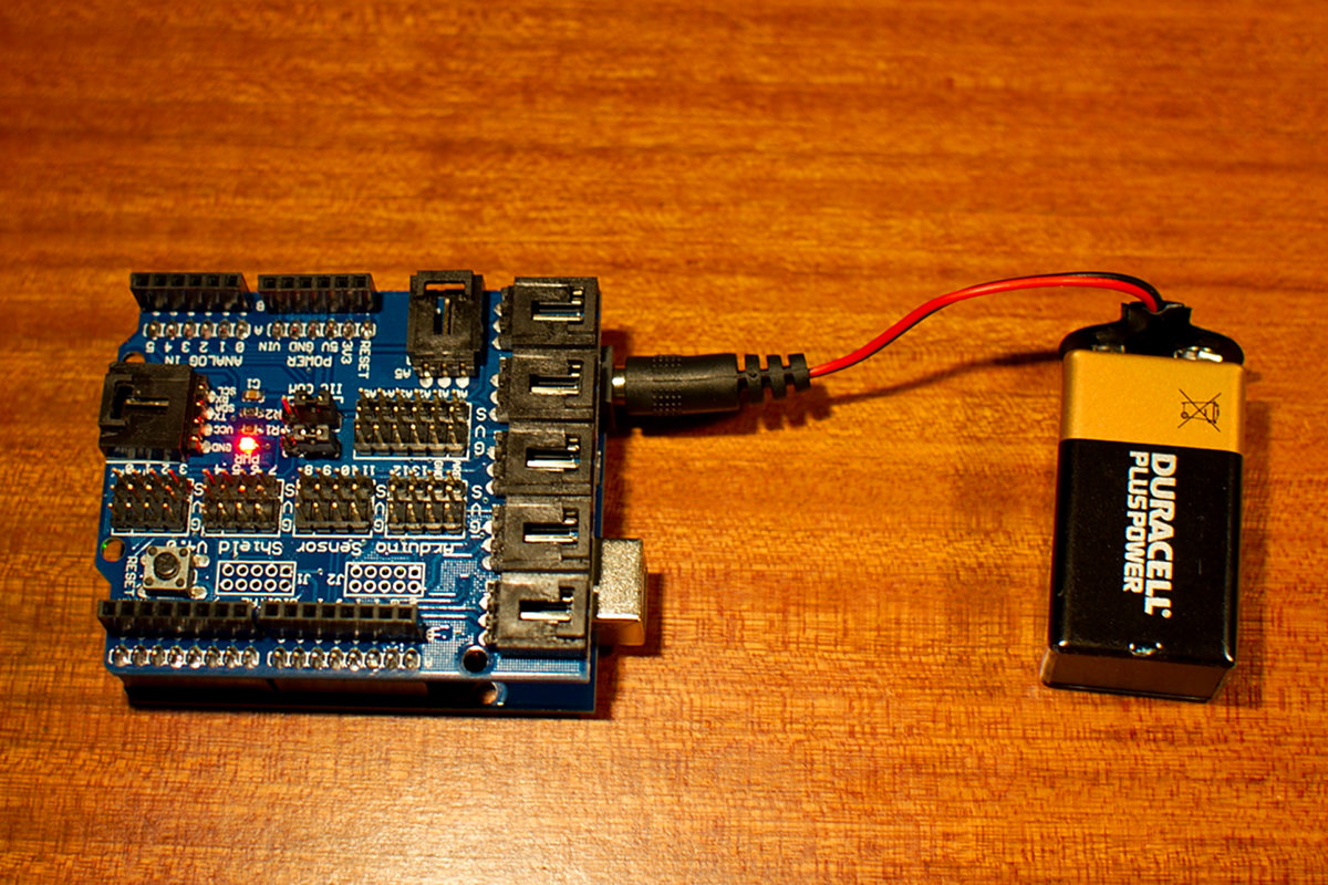 Arduino Uno powered by 9V battery