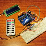 IR Remote control and I2C LCD display