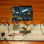 Arduino Uno on a breadboard