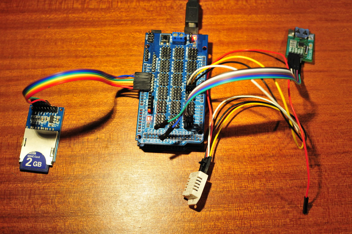 Dht22 Datalogging Power Over Ethernet For Arduino Freetronics To Sd Card