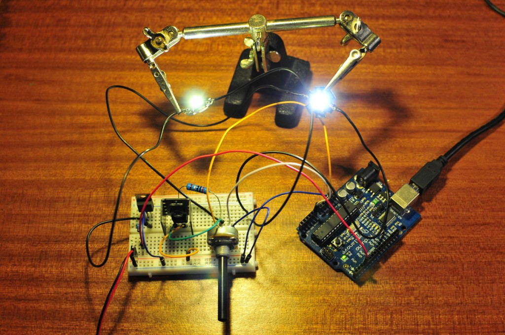 Arduino dimming power led