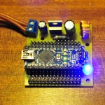 Arduino Nano undershield with 5V 3A switchmode regulator