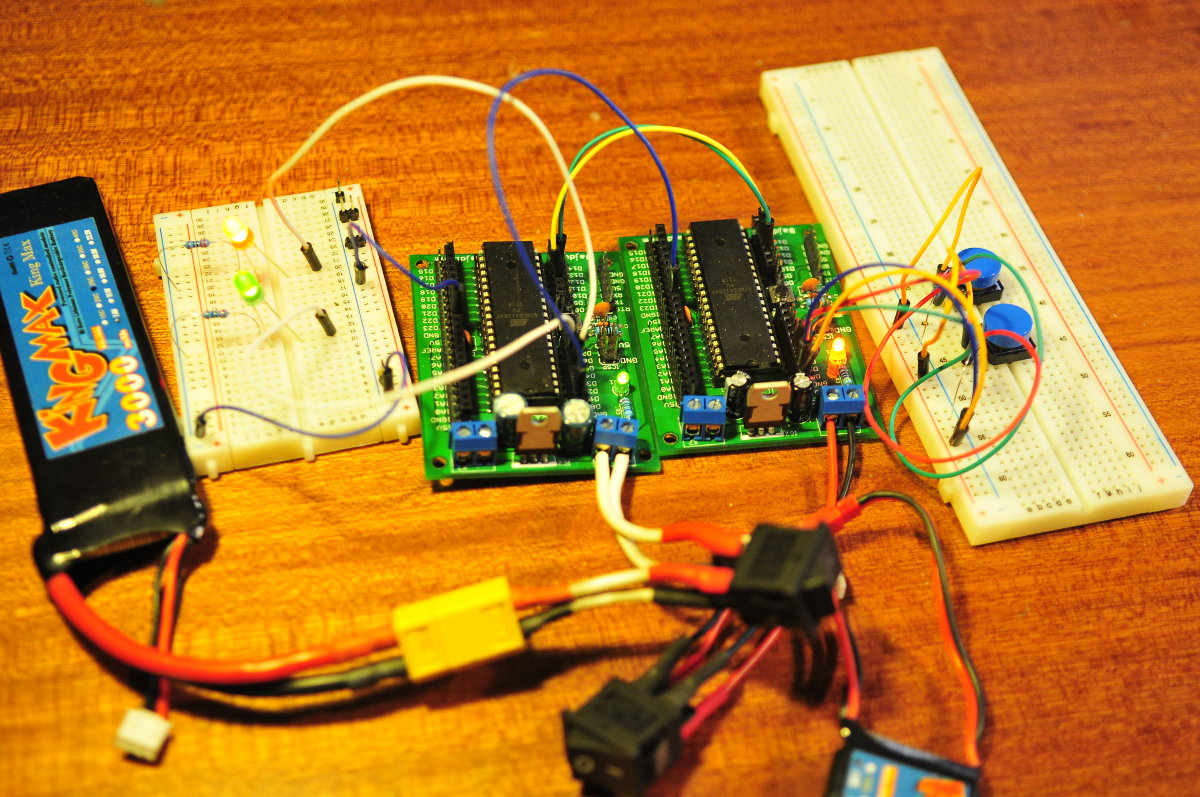 Serial communication with 2 ATmega1284's