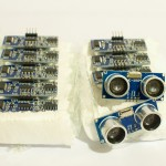 10 SR04 ultrasonic sensors