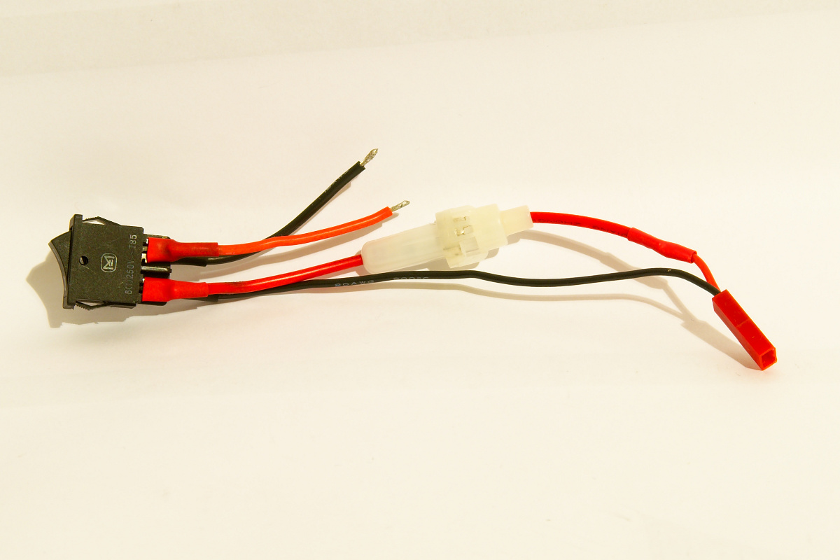 JST Lipo connector with fuse and switch