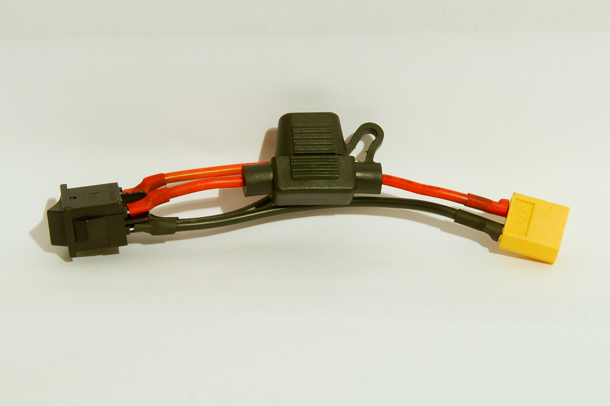 XT60 Lipo connector with fuse and switch