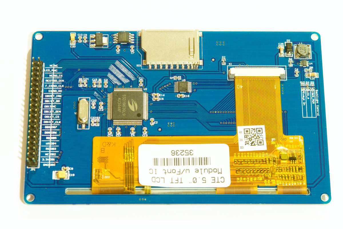 5″ TFT touch-screen with font ic