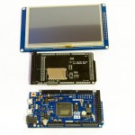 "Arduino Due and 5"" TFT touchscreen with adapter shield"