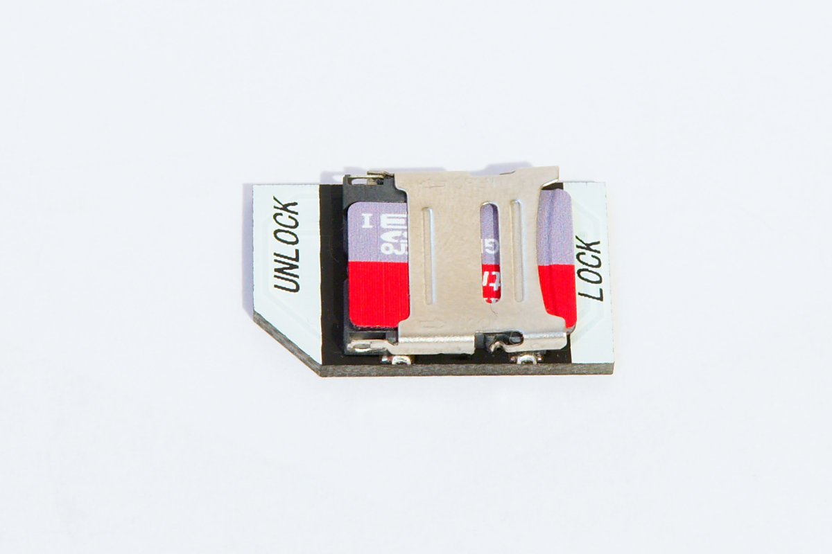 Micro sd card adapter for Raspberry Pi