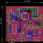 PCB with ATmega328 + ULN2003 + TP4056