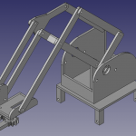 Robot arm designed in freecad