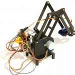 Stepper robot arm back view