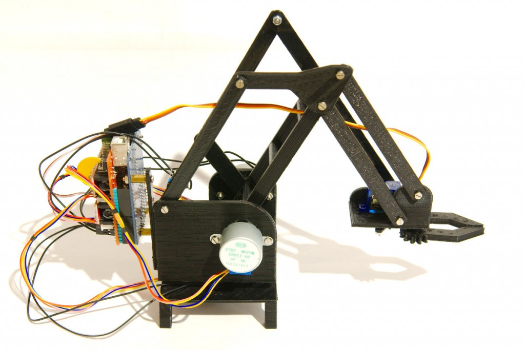 Stepper robot arm side view