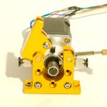 Extruder with geared stepper motor